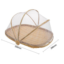 Load image into Gallery viewer, Bamboo Bug Proof Basket with Mesh Dome