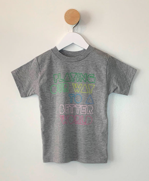 KIDS' PLAYING OUR WAY TEE SHIRT