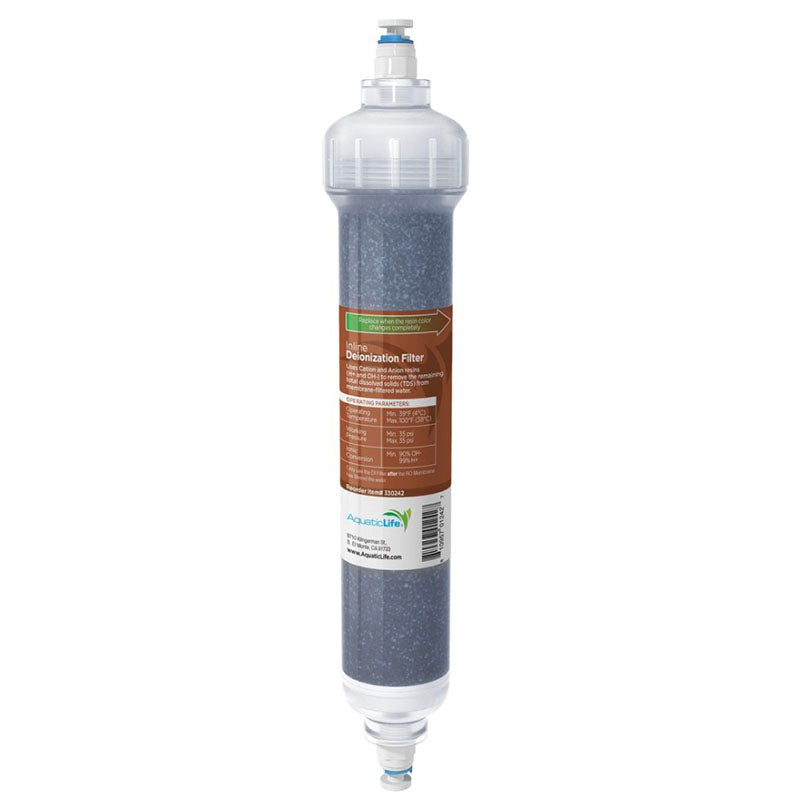 Aquatic Life RO Buddie Color Changing Mixed Bed Resin Deionization Filter Cartridge