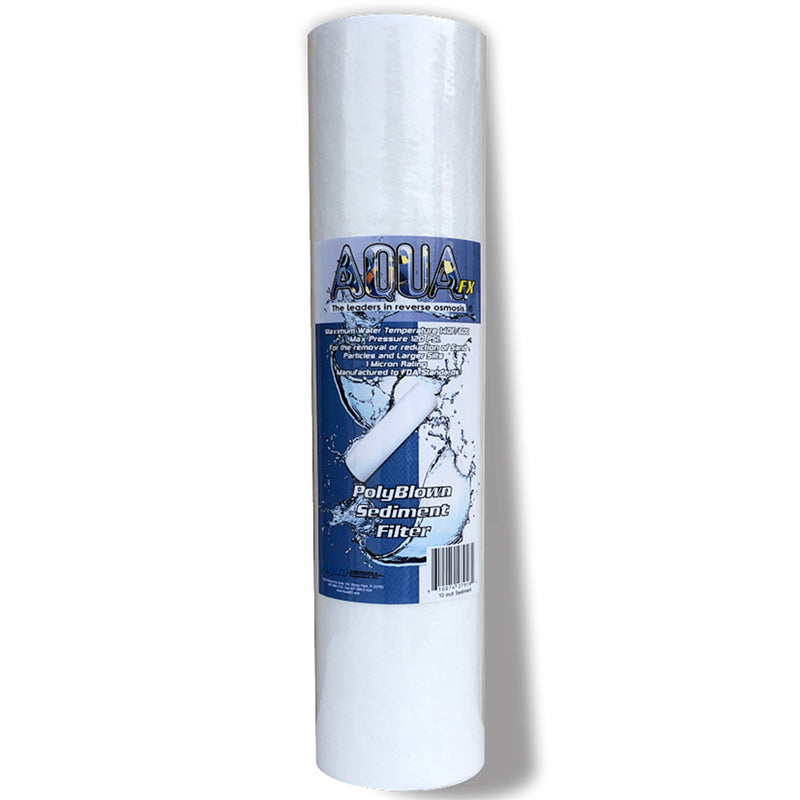 AquaFX 1 Micron Poly Blown Sediment Filters 10