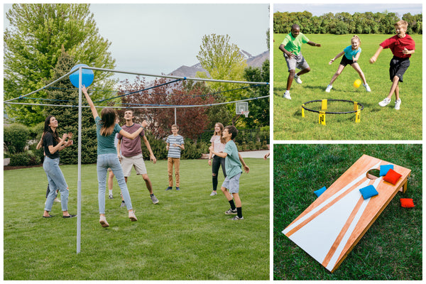 9-square, spikeball and cornhole