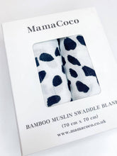 Load image into Gallery viewer, MamaCoco Dalmatian Swaddle Muslins