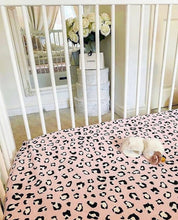 Load image into Gallery viewer, MamaCoco Baby Pink Leopard Print Cot Bed Sheet