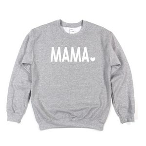 Grey Mama Heart  Sweater