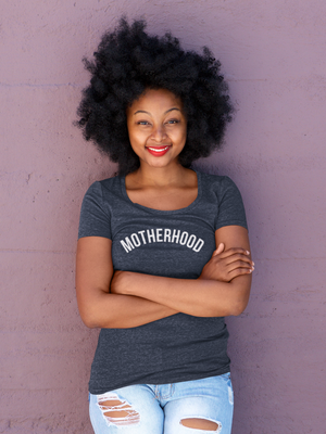 T-Shirt of the Month (January) Motherhood (White Letters)