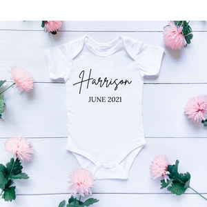 Custom Baby Name & Year