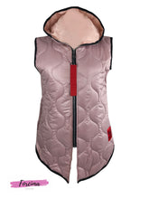 Load image into Gallery viewer, Rose Pink Puffer Waist Coat