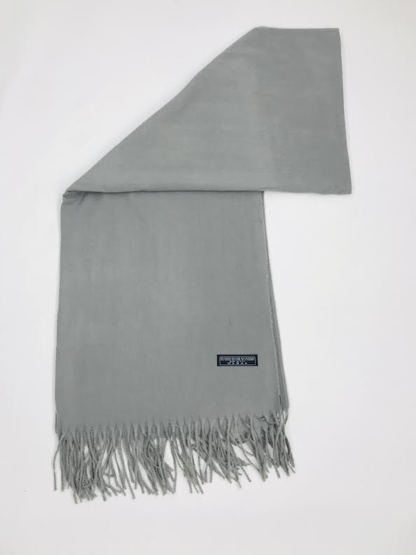 Plain Tassel Scarf grey