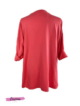 Load image into Gallery viewer, Red Tag Side Front Zip Top - Coral