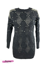 Load image into Gallery viewer, Pearl Embellished Tunic - Dark Grey