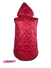 Load image into Gallery viewer, Red Puffer Waist Coat