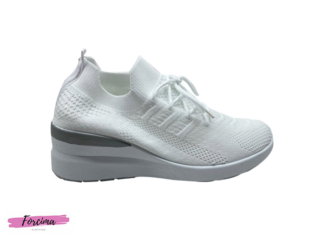 Upper material: textile, Mesh Lining:  textile Insole: textile Sole: Synthetics Padding type: Cold padding Fabric: breathable Mesh Shoe height: 12 cm (Size 38) Shoe length: 25.5 cm (Size 38) Heel height: 5 cm (Size 38)