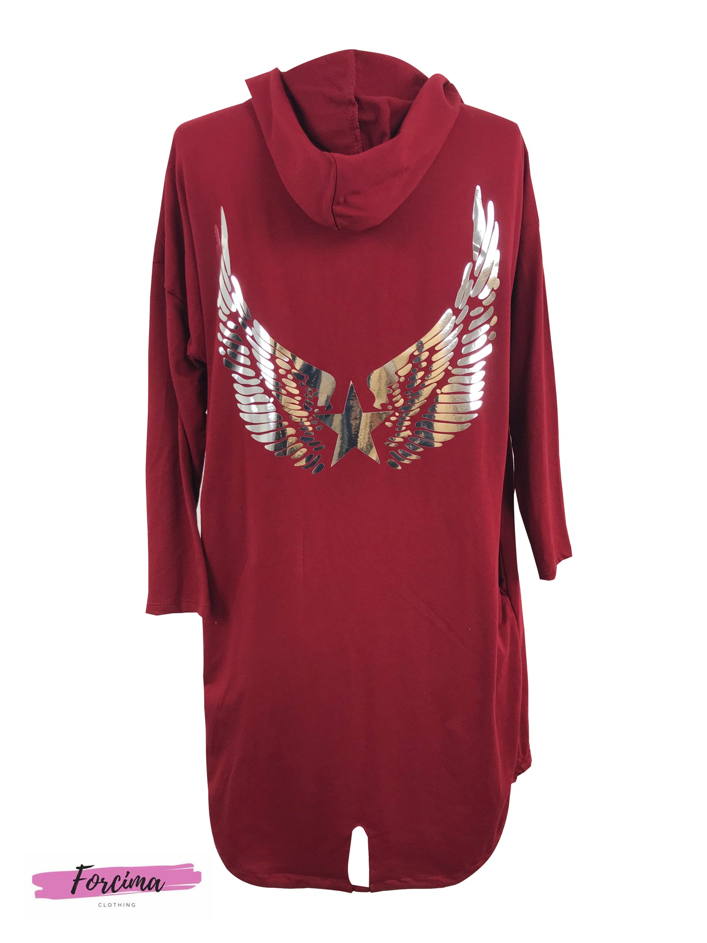 Burgandy Angel Wings