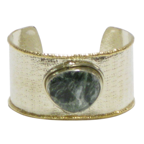 Gold White Metal Cuff - Serphonite