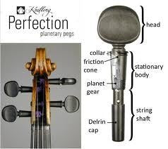 Knilling Perfection Pegs - Wood - Set of 4 - Cello