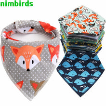 Load image into Gallery viewer, Swanky Mother Cartoon Animal Bandana Bibs