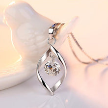 Load image into Gallery viewer, Floating Stone Pendant Necklace