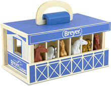 Load image into Gallery viewer, Breyer Horse Wood Stable Set