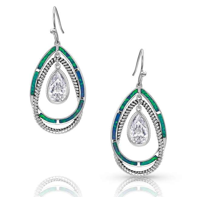 Opal Ribbons Teardrop Earrings