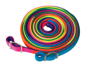 Rainbow Nylon Split Reins