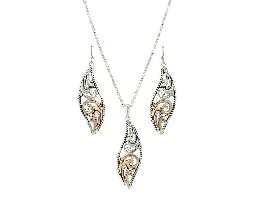 Montana Silversmiths Jewelry Womens Necklace Earrings Silver