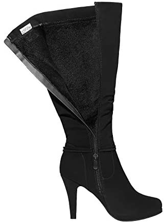 Women's Knee High Platform Heel Boots