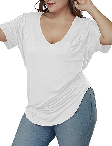 Casual Scoop Collar Plus Size T Shirts