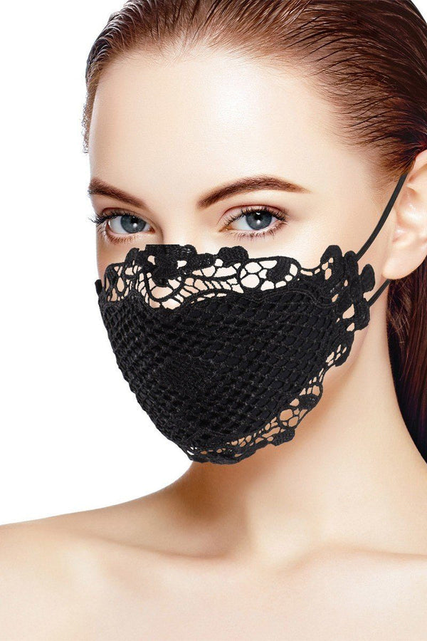 3d Black Lace Face Mask