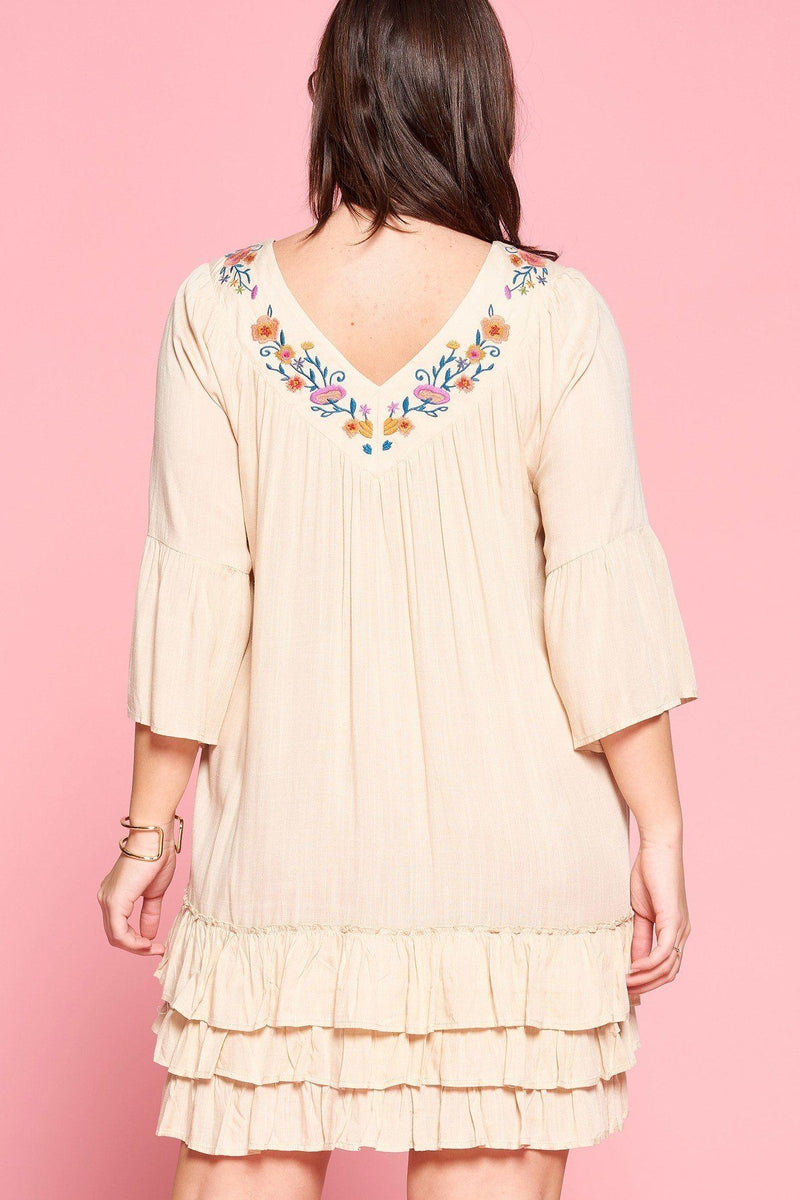 Light Up The Room With This Beautiful Floral Embroidered Shift Dress