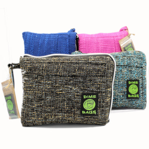 "Classic Hemp Padded 10"" Pouch by Dime Bags"