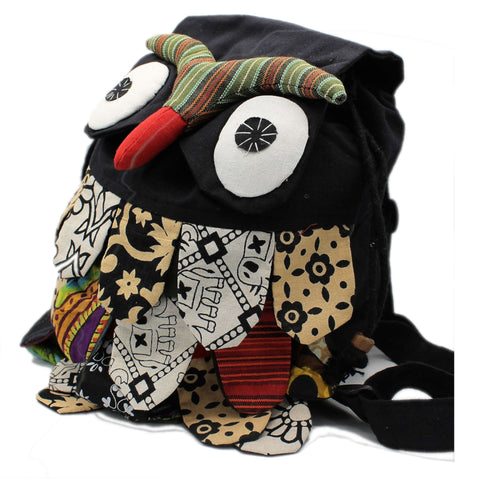 Handmade Owl Backpack from Nepal