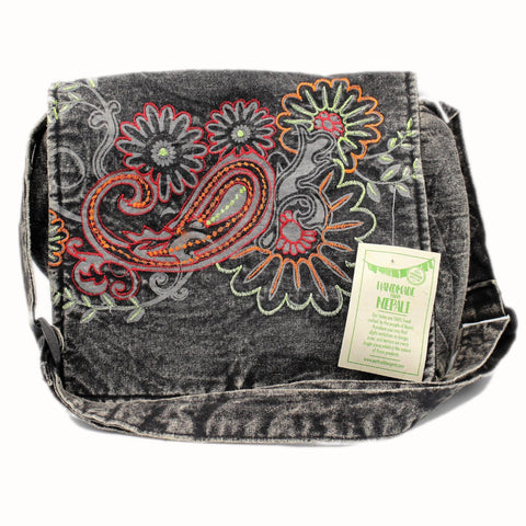 Handmade from Nepal - Denim Shoulder Bag