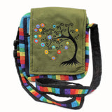 Handmade from Nepal - Bright Tree Shoulder Bag