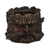 Tree trunk candle holder