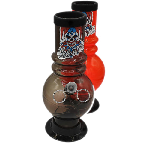 Graffix Acrylic Water Pipe - Bubble - Wide Mouth
