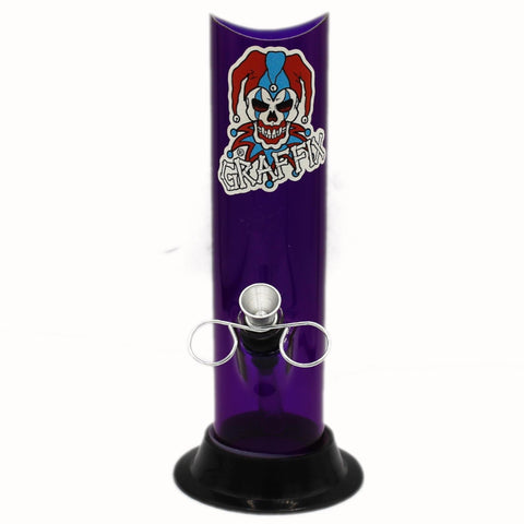 Graffix Acrylic Water Pipe - Straight - Wide Mouth