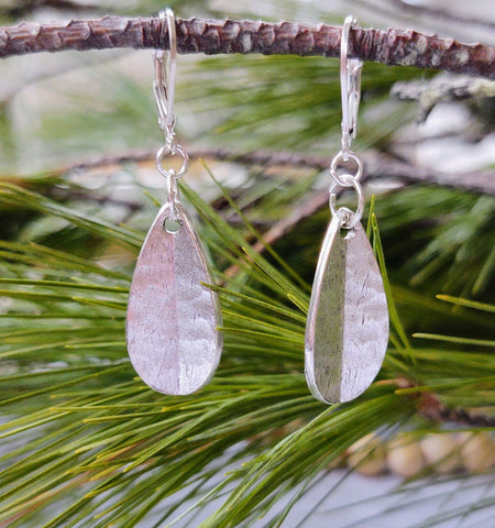 Antique Silver Teardrop earrings