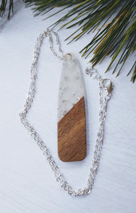 Silver and Wood necklace