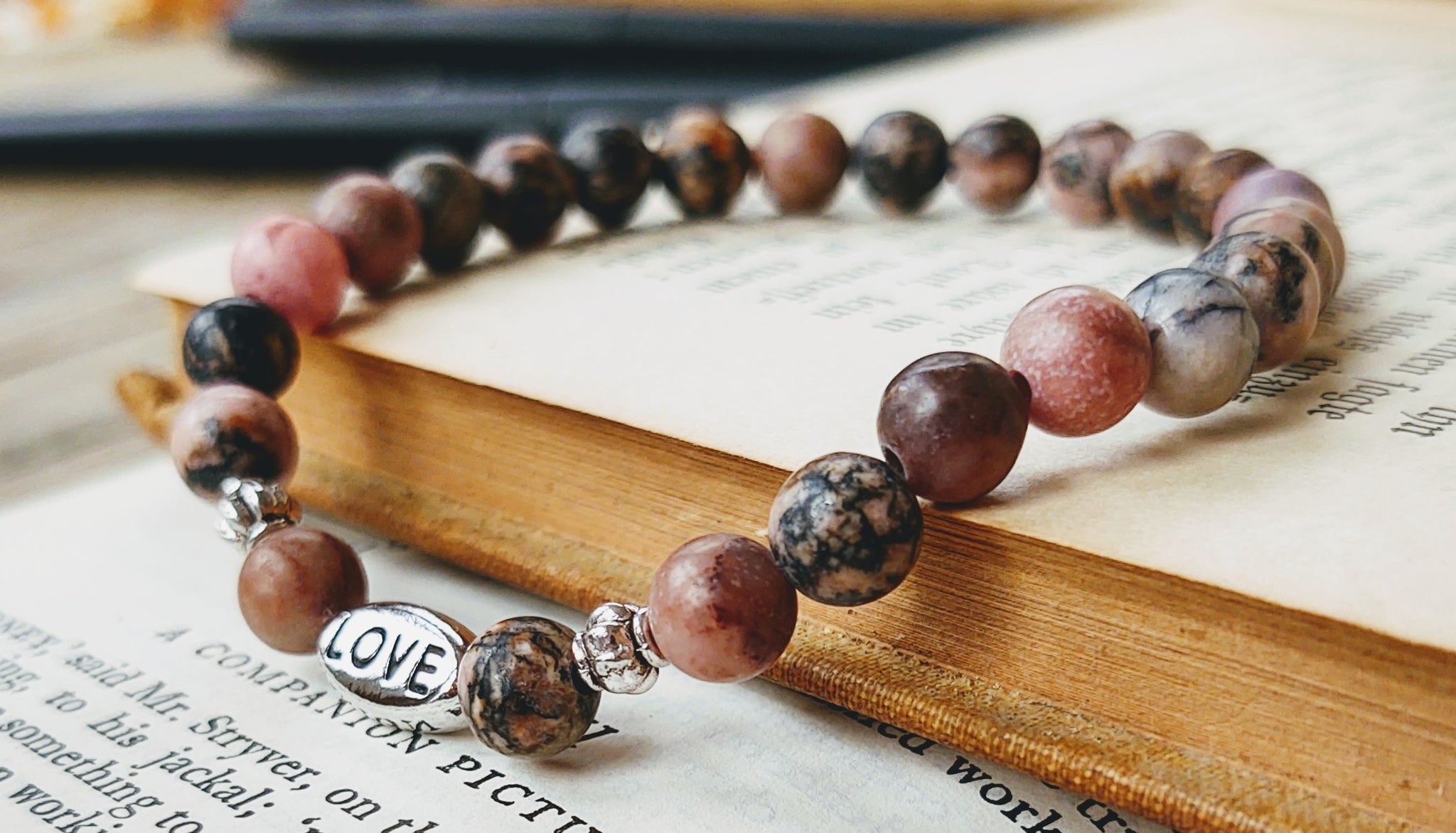 Love {Rhodonite} bracelet