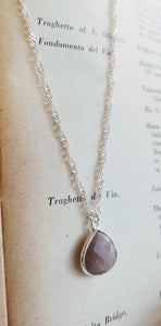 Mystic Moonstone pendant necklace