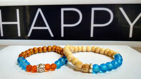 Wood and Glass Bracelet Stacker Set (from Summer '20)