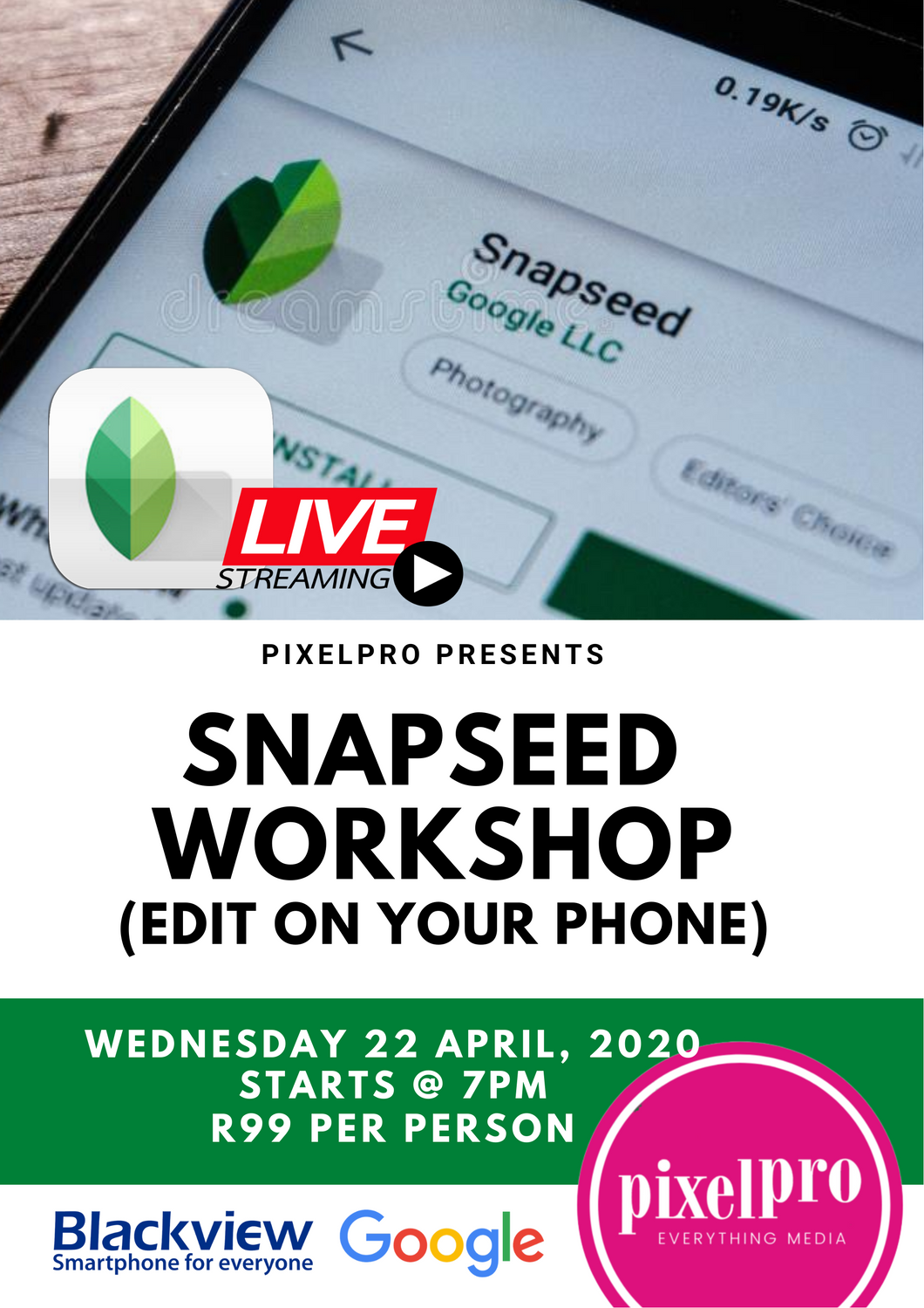 Snapseed Workshop - Pixel Pro Photography