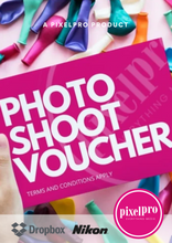 Load image into Gallery viewer, PixelPro Photo Shoot Voucher