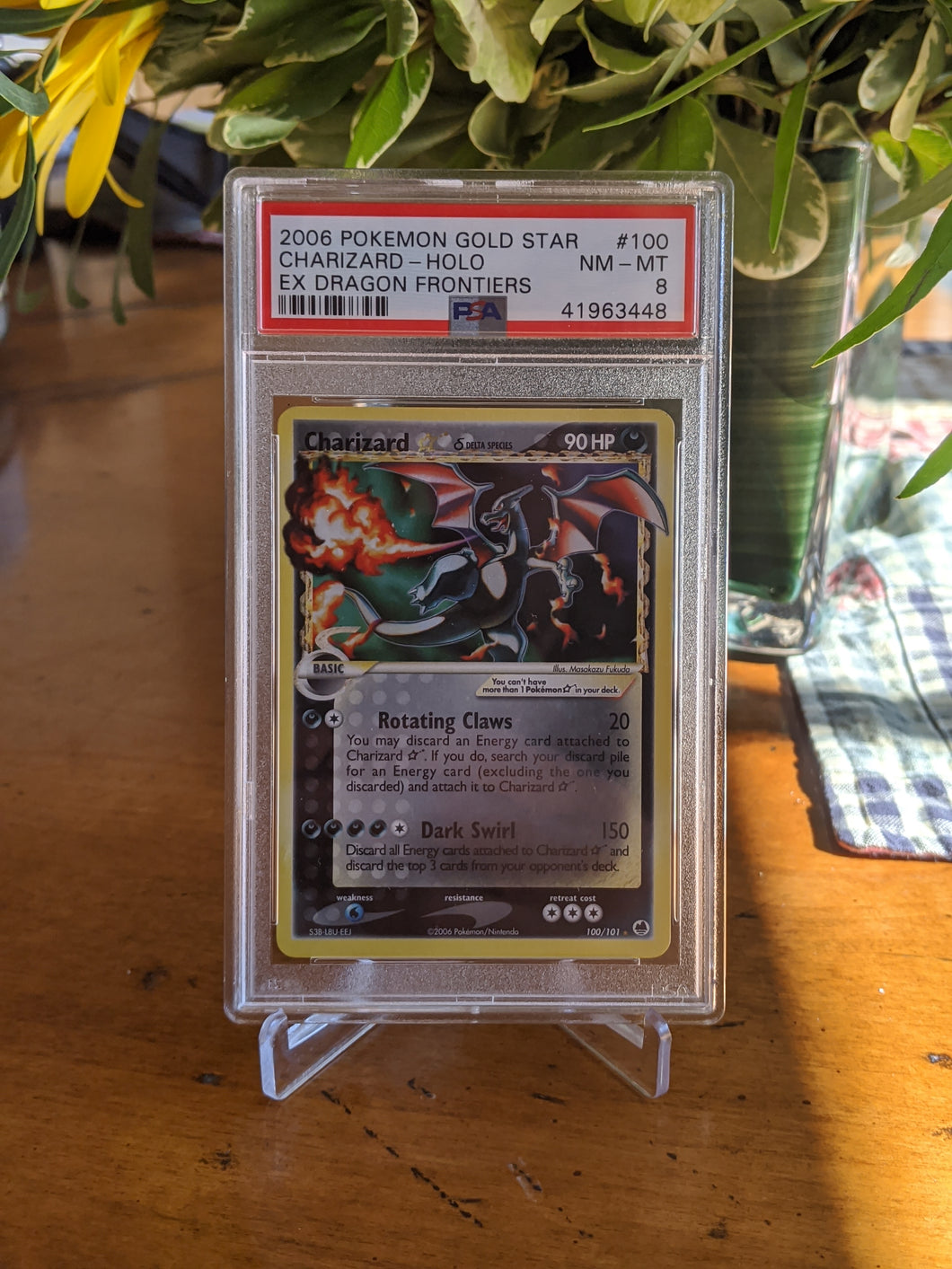 EX Dragon Frontiers Gold Star Charizard PSA 8
