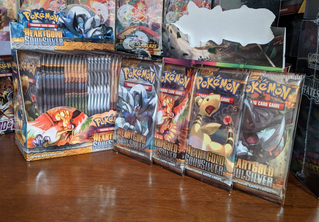 4x Heartgold / Soulsilver Base Tamper Sealed Packs From Box Break