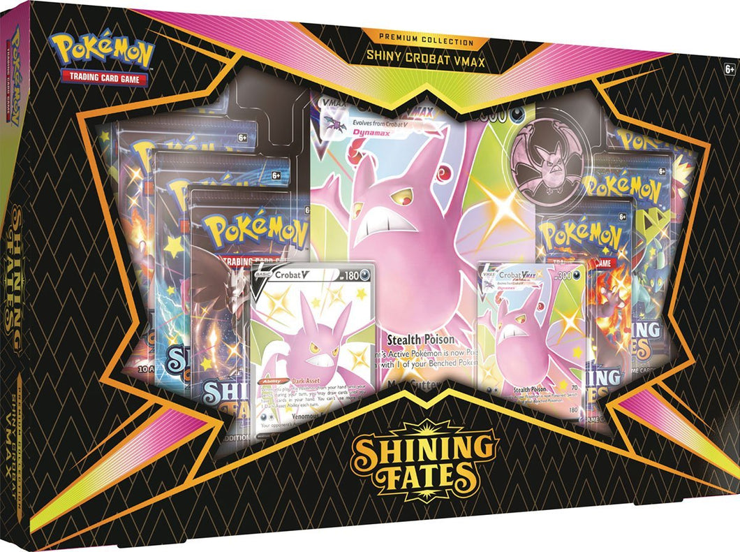 Shining Fates Premium Collection Set of 2 (Shiny Crobat & Shiny Dragapult)