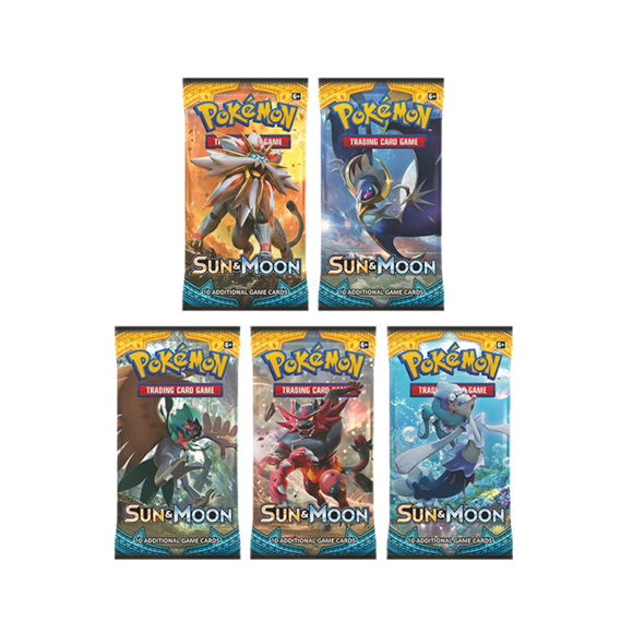 Sun & Moon Base Set Booster Pack (Artword Selected Randomly)