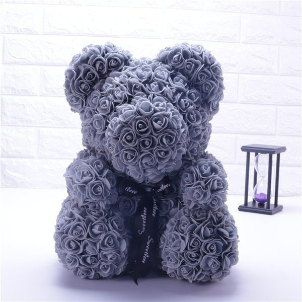 Gray Rose Bear