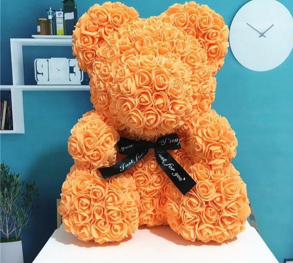 Orange Rose Bear