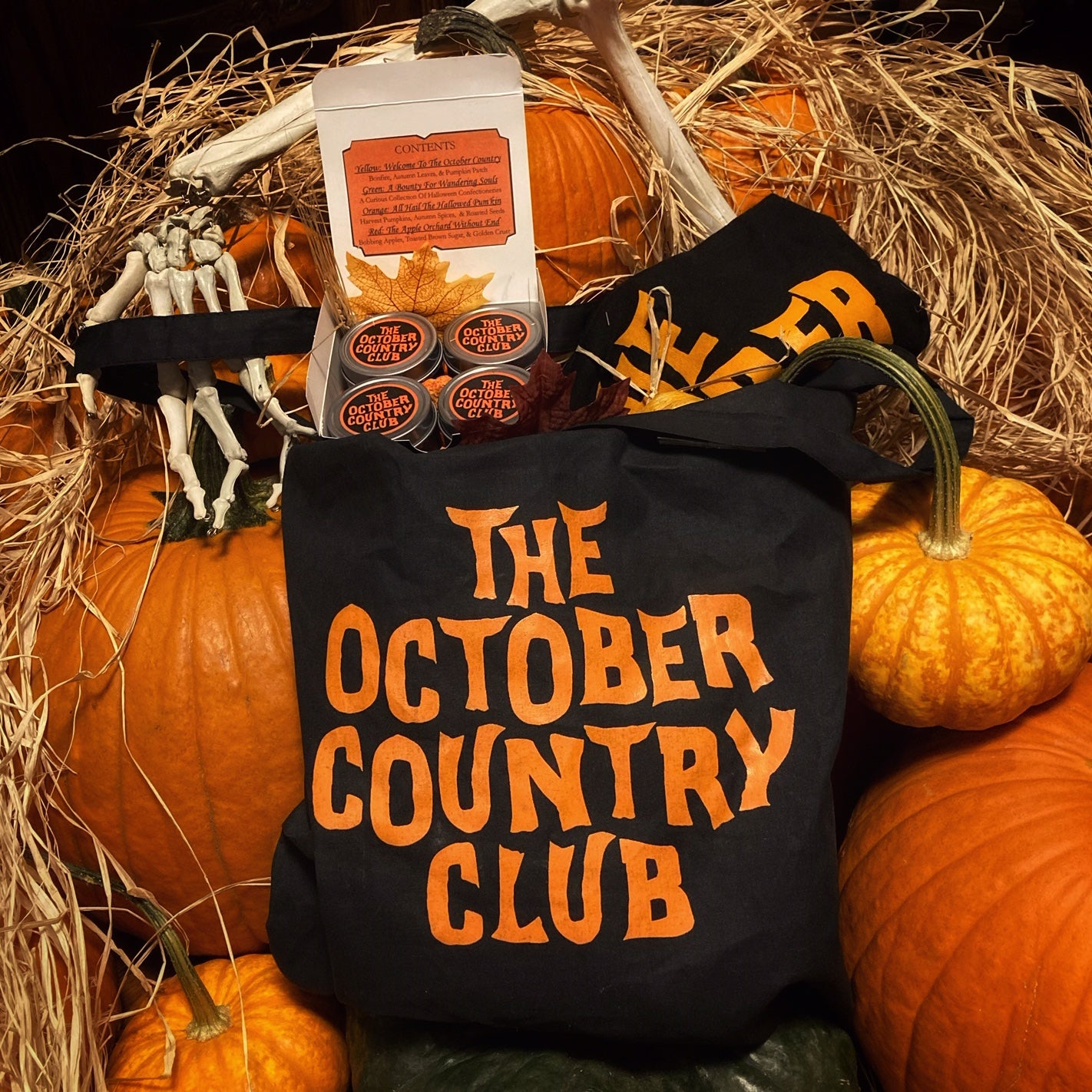 Welcome To The October Country Club Bundle (T-Shirt, Tote, & Candle Sampler)